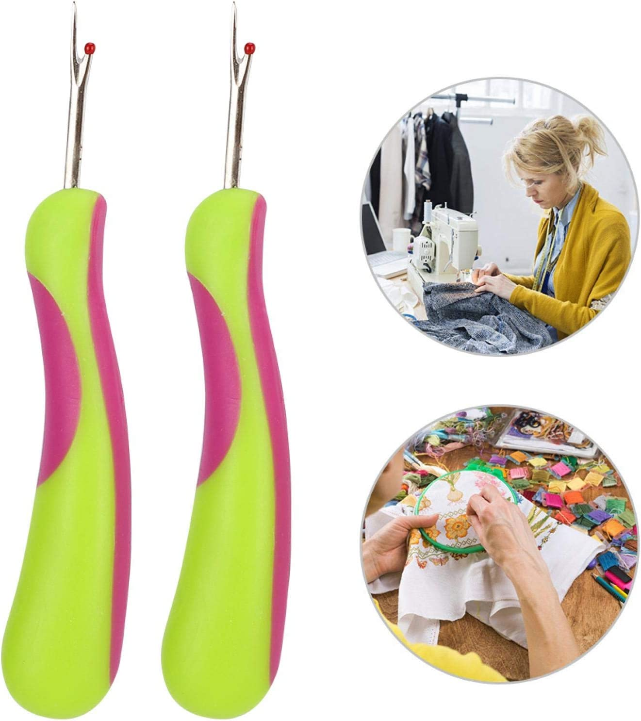 para Coser Textiles y Punto de Cruz 2 Piezas de deshilo desgarradores de Costura SALUTUYA Costuras c/ómodas y r/ápidas para rasgar