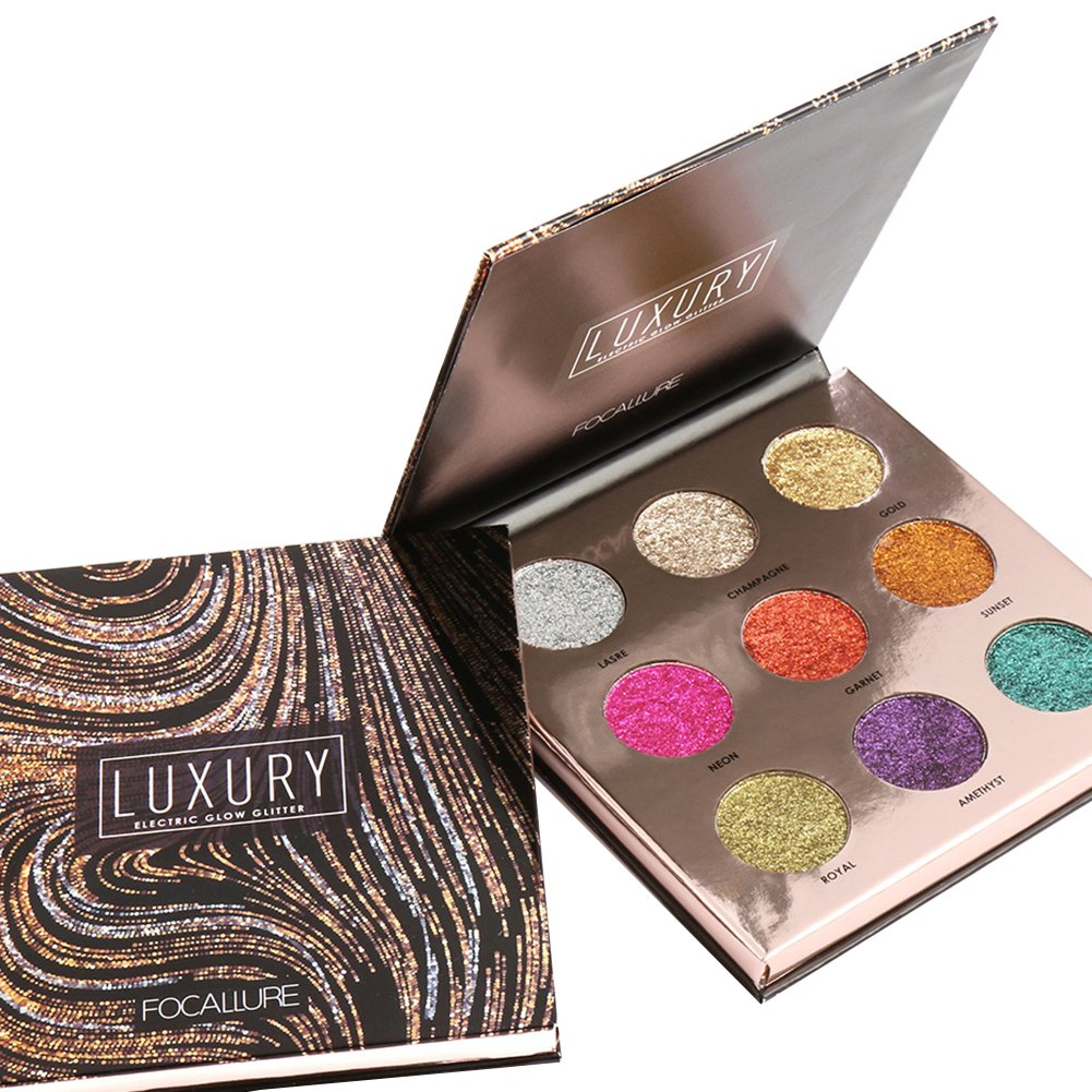 Paleta de sombras de ojos, angmile mate shimmer–Purpurina Eyeshadow Primer 10colores impermeable mármol paleta de maquillaje cosméticos Crysle