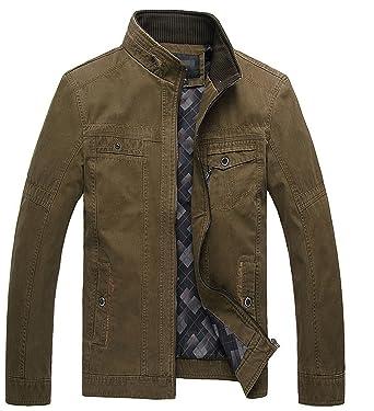 Amazon.com: pajamasea primavera chaquetas hombres de ...