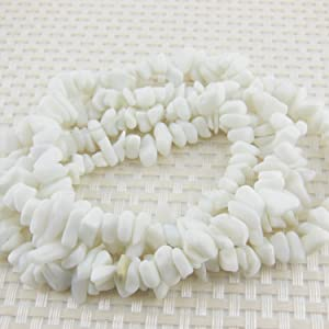 COIRIS 33'' Strand 5-8MM Natural Seashells Loose Chips Stone Gemstone Beads for Jewelry DIY or Making & Design (St-1051)