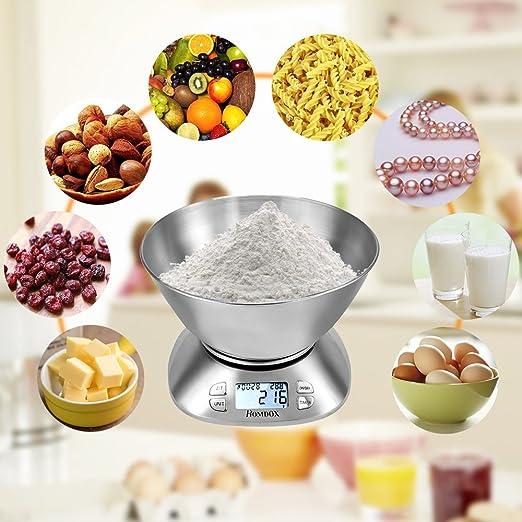 Homdox Digital báscula de cocina (capacidad máxima 33LB): Amazon.es: Hogar