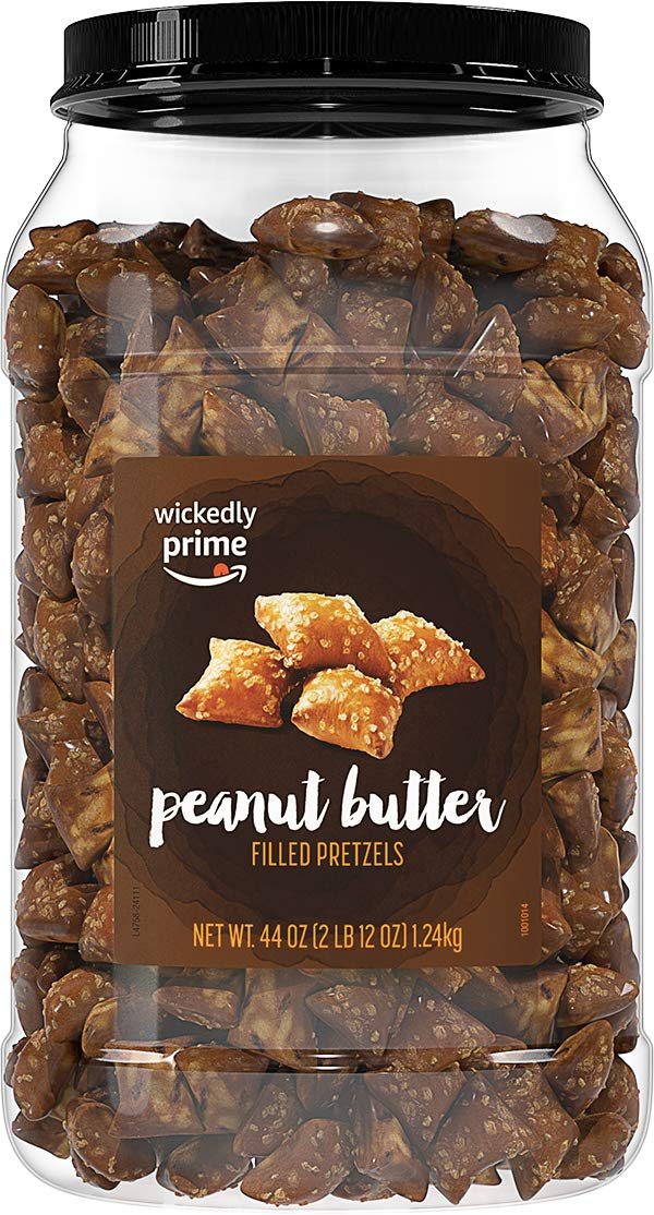 Wickedly Prime Peanut Butter-Filled Pretzels, 44 Ounce by Wickedly Prime