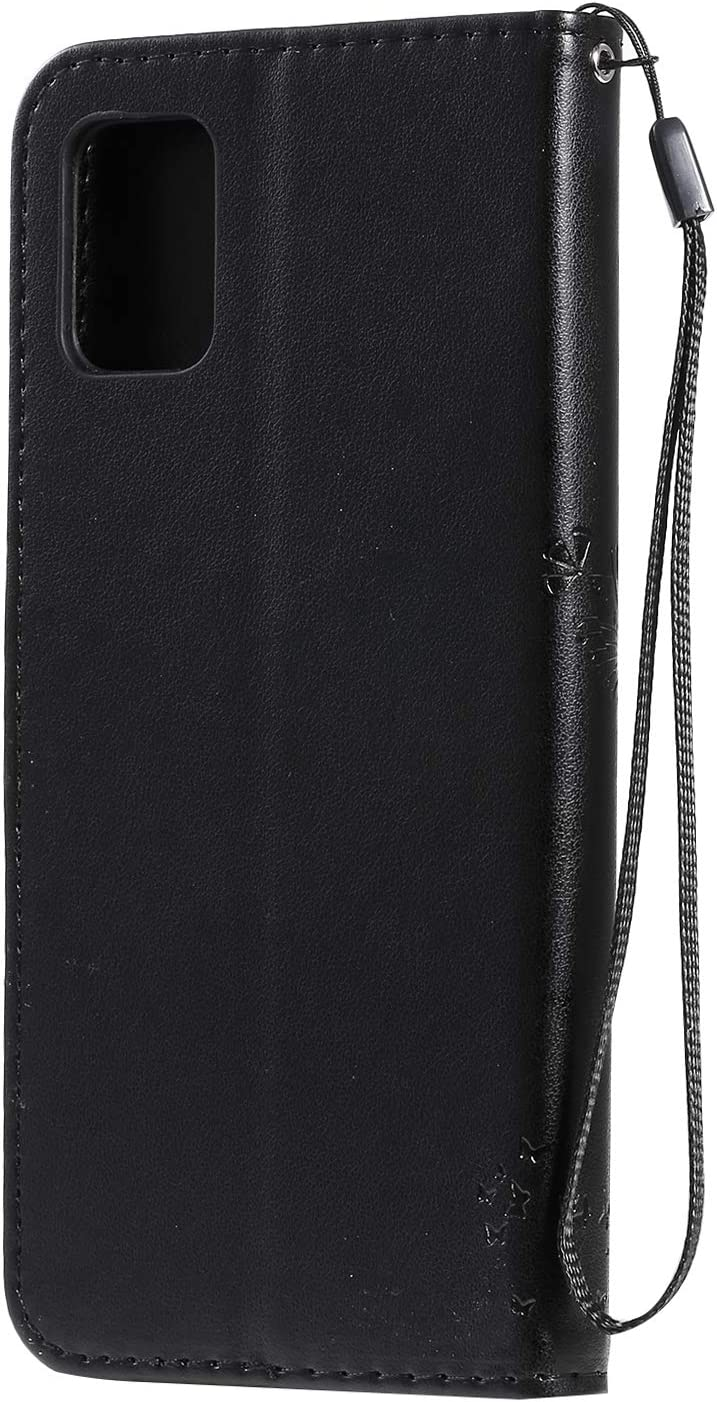 Hancda H/ülle f/ür Samsung Galaxy A51 Schutzh/ülle Leder Tasche Flip Case Klapph/ülle Handyh/ülle Lederh/ülle D/ünn Silikon Case mit Magnet Cover Etui Tasche f/ür Samsung Galaxy A51,H/ülle Blau