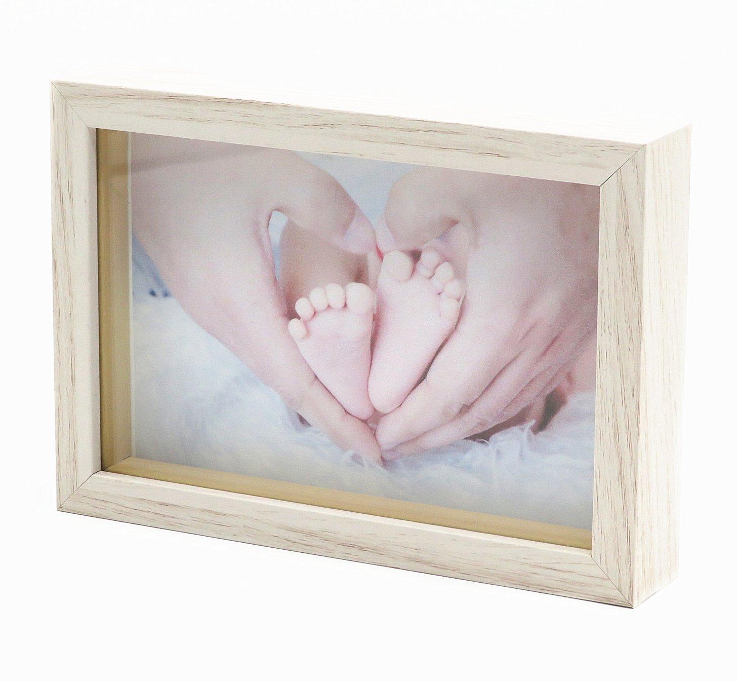 Smiling Art Bilderrahmen aus Holz für 1 Foto, 3D Bilderrahmen Tief ...