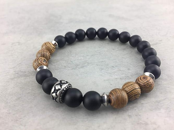 Armband Perlenarmband Holzkugeln Holz Braun Holzperlen