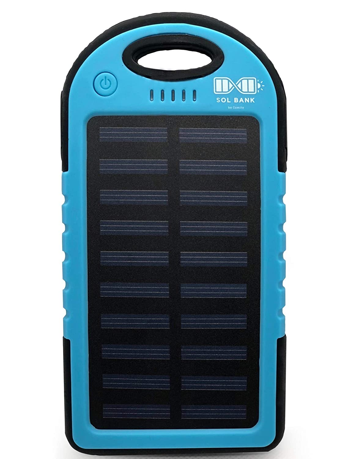 Sol Bank, 5000 mAh Portable Power Bank + Cell Phone Charger with 4 ft. Nylon Braided Micro USB, Type C Multi Charging Cable for All Smartphones, Tablets : Travel/Camping Accessories/Flashlight (Blue) ZL 100