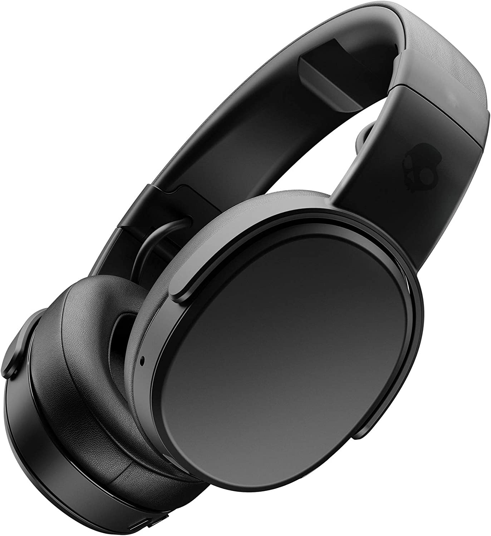 Skullcandy Crusher Over-Ear Bluetooth, Auriculares Inalámbricos con Micrófono, Espuma Viscoelástica con Aislamiento de Ruido, Estéreo Ajustable, Batería con 40h de Duración, Negro