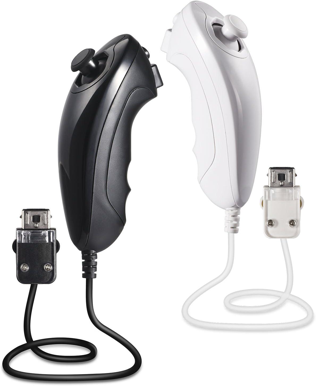 miadore - 2 mandos Nunchuck para Wii y Consola Wii U, Wii Nunchuck ...