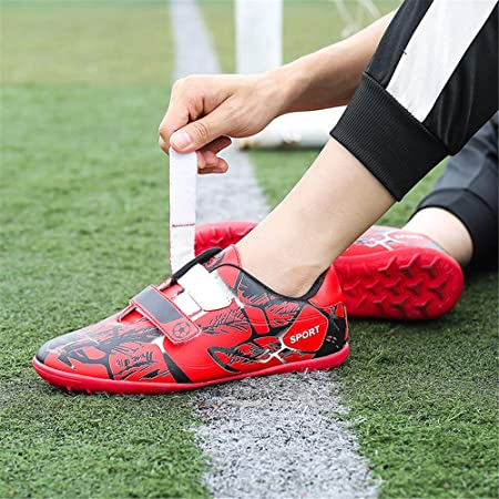 Amazon.com: FCSHOES Indoor Velcro Soccer Shoes Kids Boys ...