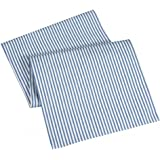 Table Runners Blue Striped Table Runner Cotton Ticking 90""