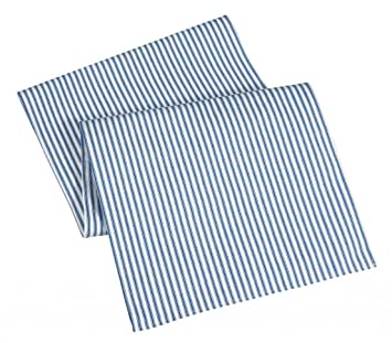 Table Runners Blue Striped Table Runner Cotton Ticking 90u0026quot;