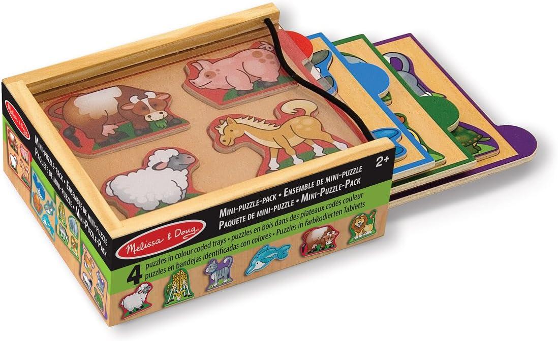 Melissa & Doug- Animals Mini Juego Puzzle, Multicolor (14790) , color/modelo surtido