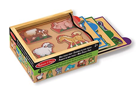 Melissa & Doug Animals Mini-Puzzle Pack ...
