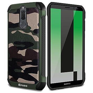 Epxee Funda Huawei Mate 10 Lite, Silicona [Shock-Absorción] Case Carcasa para Huawei Mate 10 Lite (Camuflado-001)