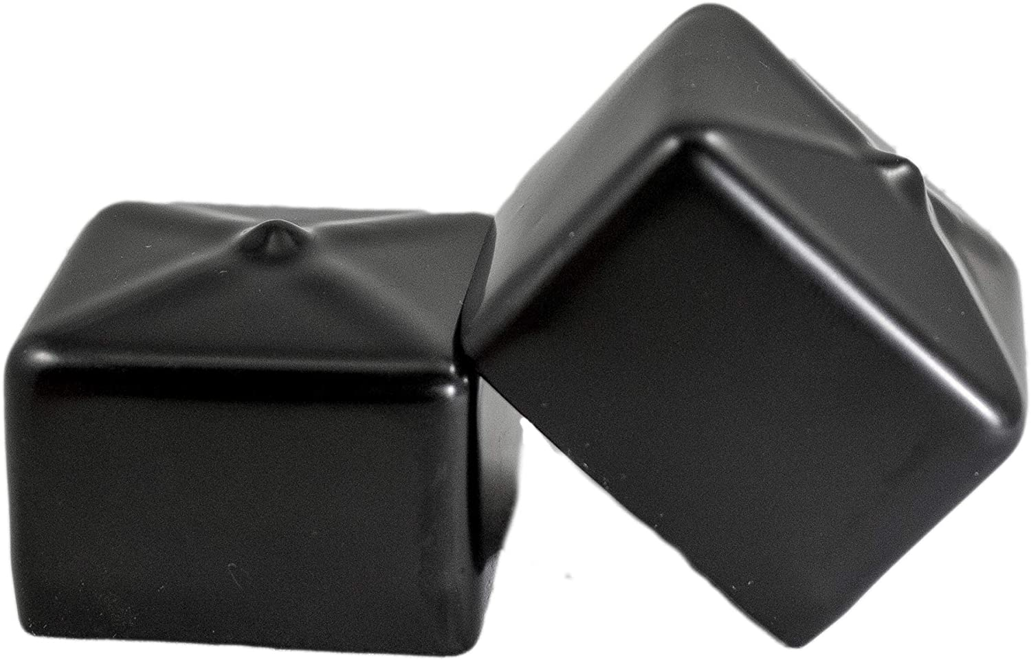 Amazon Com Prescott Plastics 1 1 2 Inch Square Black Vinyl End Cap Flexible Pipe Post Rubber Cover A Pack Of 4 Caps Kitchen Dining