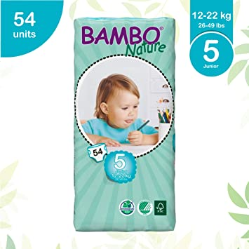 Junior XL Size 6 Tall Pack of 44 Bambo Nature Nappies