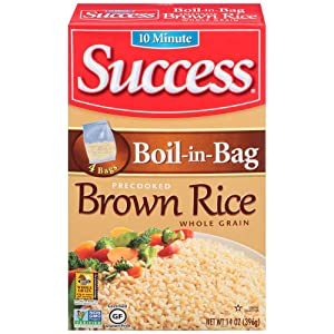 Success Boil-in-Bag Rice, Whole Grain Brown Rice, 14 oz Box