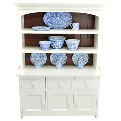The Queenu0027s Treasures 18 U0026quot; Inch Doll Wooden Farmhouse Collection Step  Back Kitchen Cupboard Dish