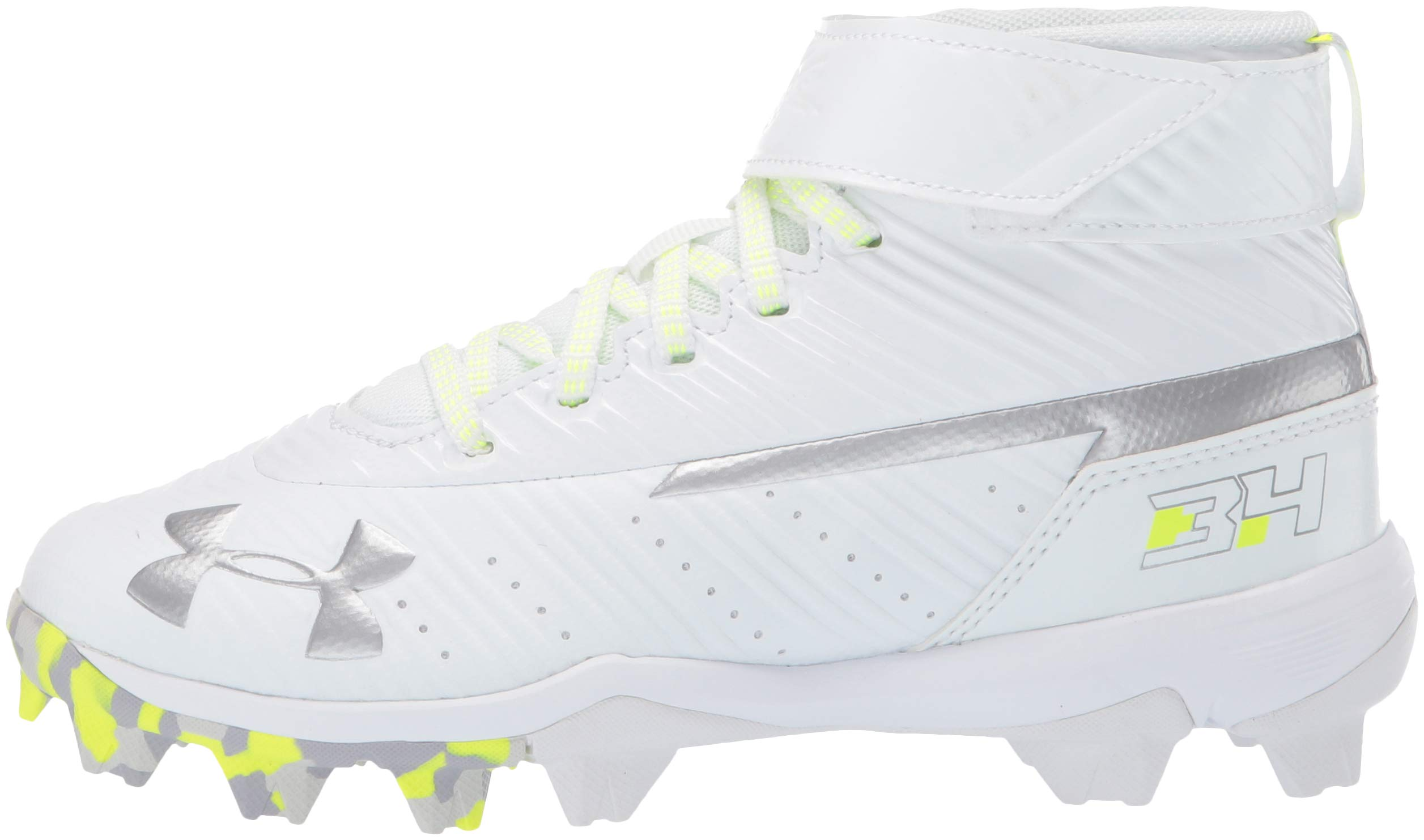 Under Armour Boys' Harper 3 Mid Jr. RM Baseball Shoe 100/White, 1 by Under Armour (Image #5)