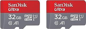 SanDisk 32GB 2-Pack Ultra microSDHC UHS-I Memory Card (2x32GB) - SDSQUAR-032G-GN6MT