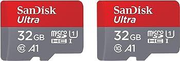 2-Pack SanDisk Ultra 32GB MicroSDHC Card