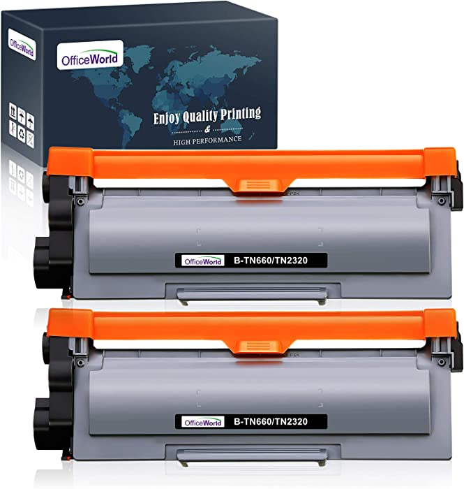 OfficeWorld Compatible Toner Cartridge Replacement for Brother TN660 TN630 High Yield, for Brother HL-L2340DW HL-L2380DW HL-L2300D DCP-L2540DW MFC-L2700DW MFC-L2740DW DCP-L2520DW Printer (2-Black)