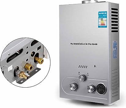 Calentador de Agua VEVOR Calentador de Gas 8L Calentador Gas Natural Calentador de Agua de Gas 8L Calentador de Agua a Gas LNG