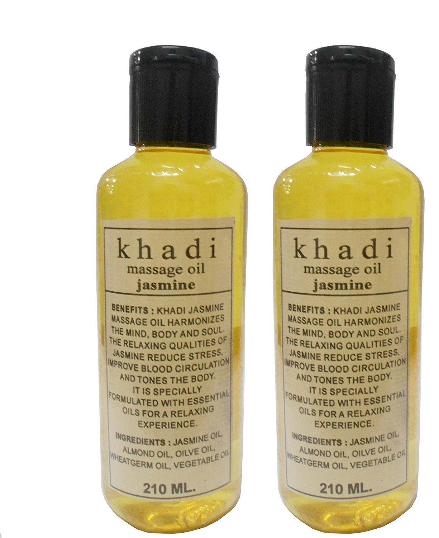 Buy Khadi Khazana Jasmine Massage oil Warming massage oil, relaxing massage  oil, 420ml Made in India Fully Ayurvedic Natural and Herbal Online at Low  Prices in India - Amazon.in
