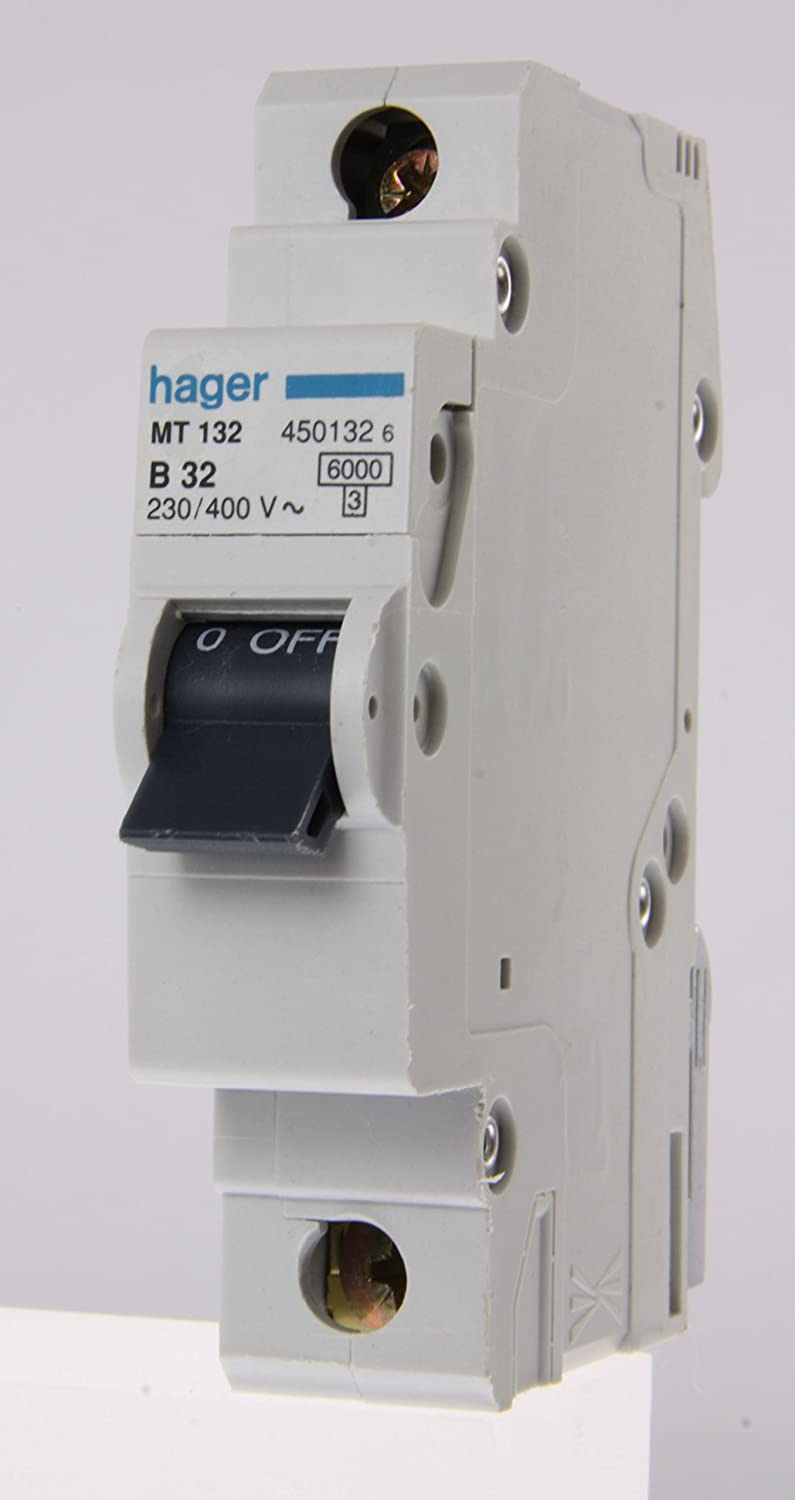 71QbkYJN%2BKL._SL1500_ mt132 hager miniature circuit breaker 6ka type b sp single pole hager fuse box at creativeand.co
