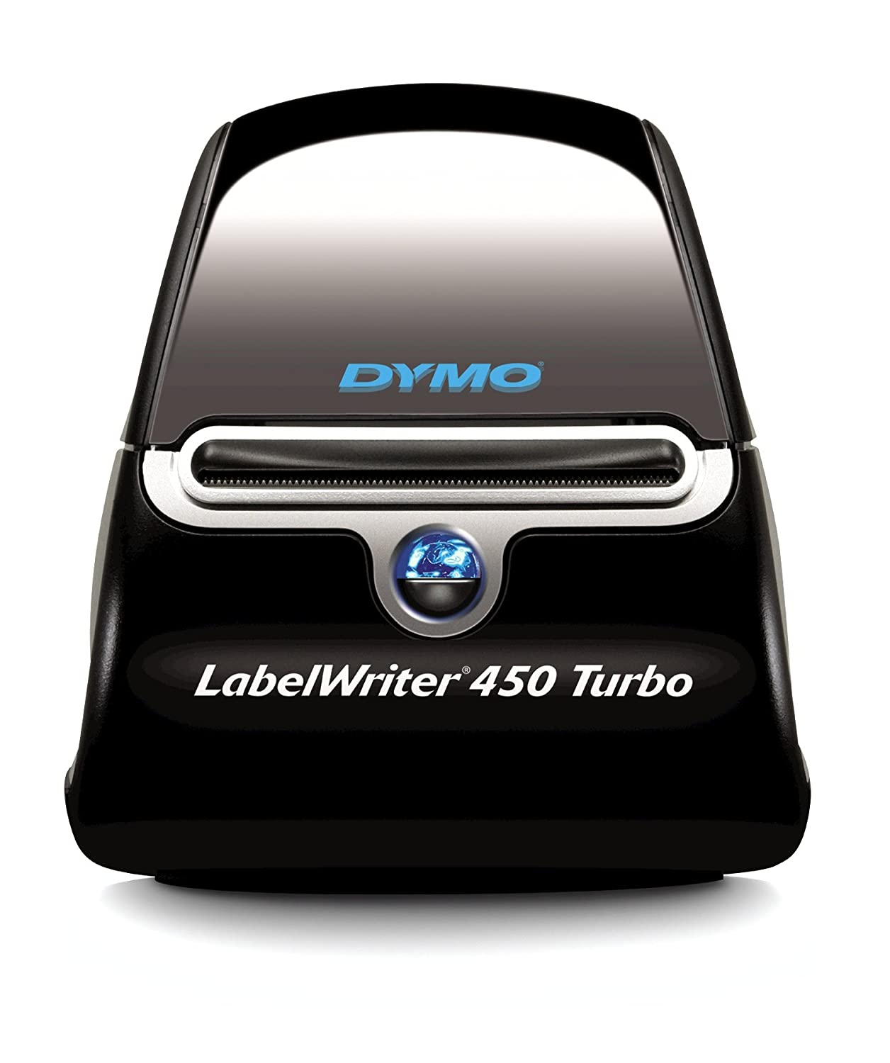 Dymo LabelWriter 450 Turbo Label Maker and 4 x Roll of 260 LabelWriter Large Address Labels of 36 x 89 mm - Black on White