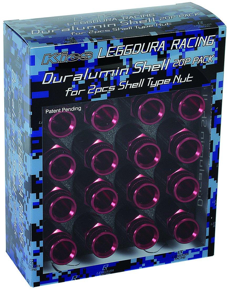 KYO-EI (協永産業) キャップ LEGGDURA RACING Shell Type Nut Duralumin Shell RL53 【 ローレットタイプ 】 【 レッド 】 SLRNR2 B012AWB9ZAレッド