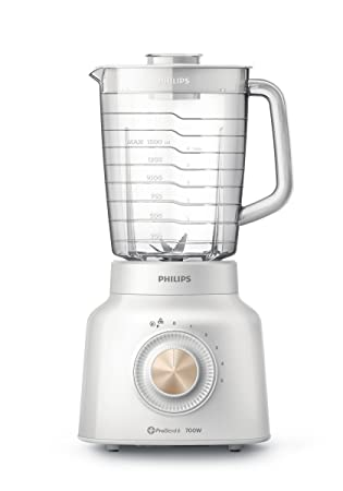 Philips Viva Collection HR2134/00 - Licuadora (2,4 L, Batidora de vaso, Transparente, Blanco, China, Polipropileno (PP), SAN): Amazon.es: Hogar