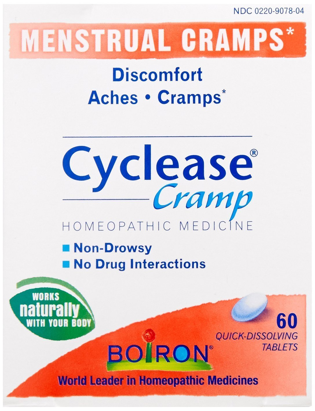 Boiron Cyclease Cramps, 60 Tablets, Homeopathic Medicine for Cramp Relief (Pack of 3)