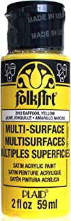 product image for FolkArt Multi-Surface Paint in Assorted Colors (2 oz), 2912, Daffodil Yellow