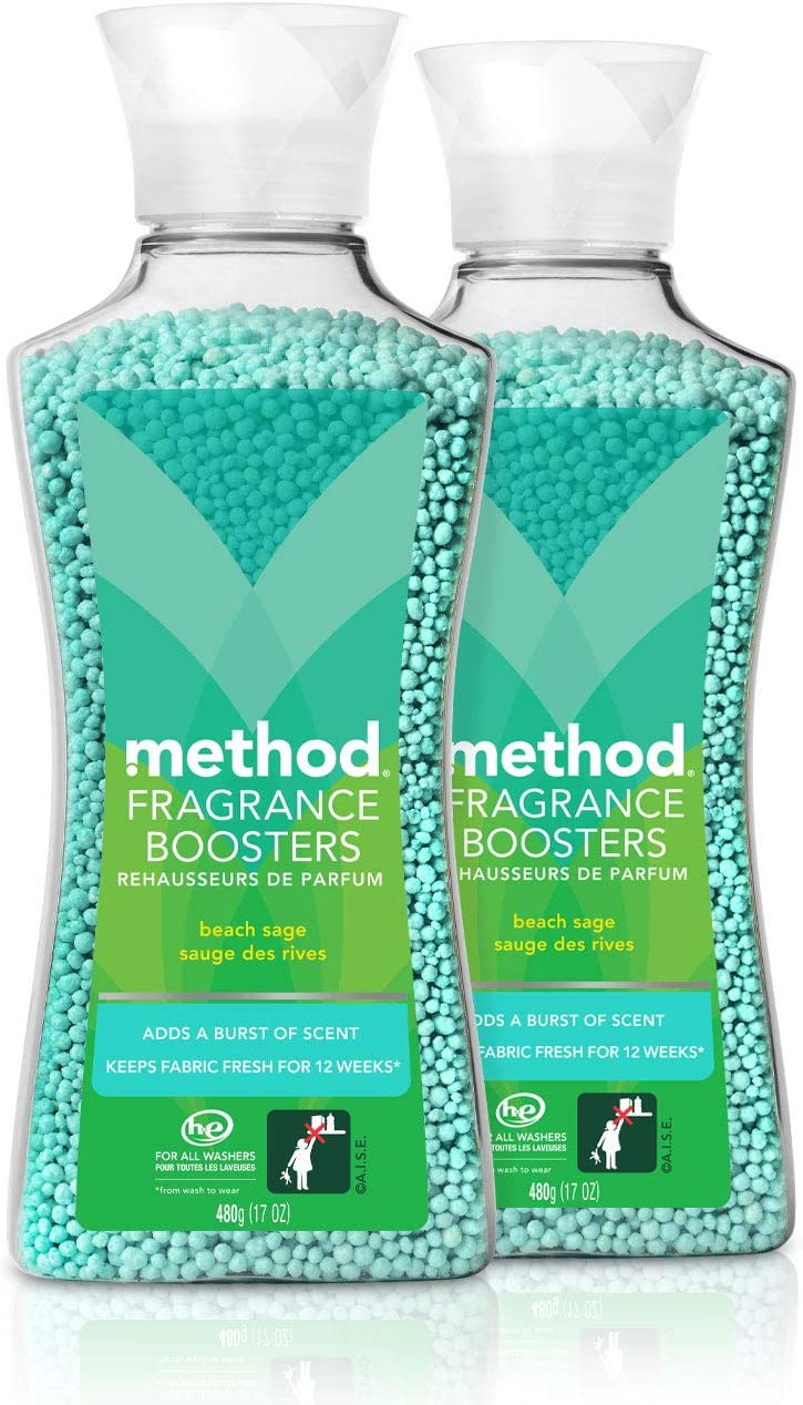 Method Laundry Fragrance Boosters, Beach Sage, 17 Ounces (2 Pack)
