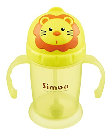 d01cb794 Amazon.com : Simba Flip-it Straw Training Cup, Yellow, 8 Ounce : Baby