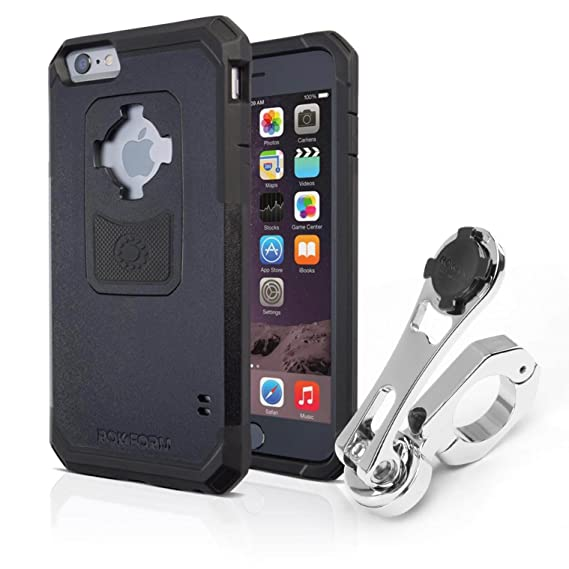 Rokform [iPhone 6/6s] Pro Series Motorcycle Phone Mount kit and Rugged Case, CNC Machined Aluminum, twist lock and magnetic mounting (Polished)