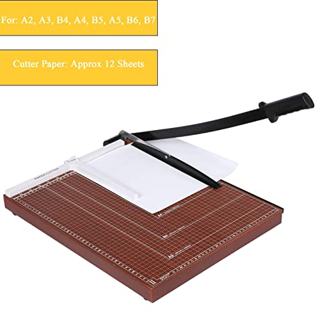 [US Stock]Wooden Professional Office Home A2-B7 Paper Desk Tops Paper  Cutter Trimmer Scrap Machine (Type3)