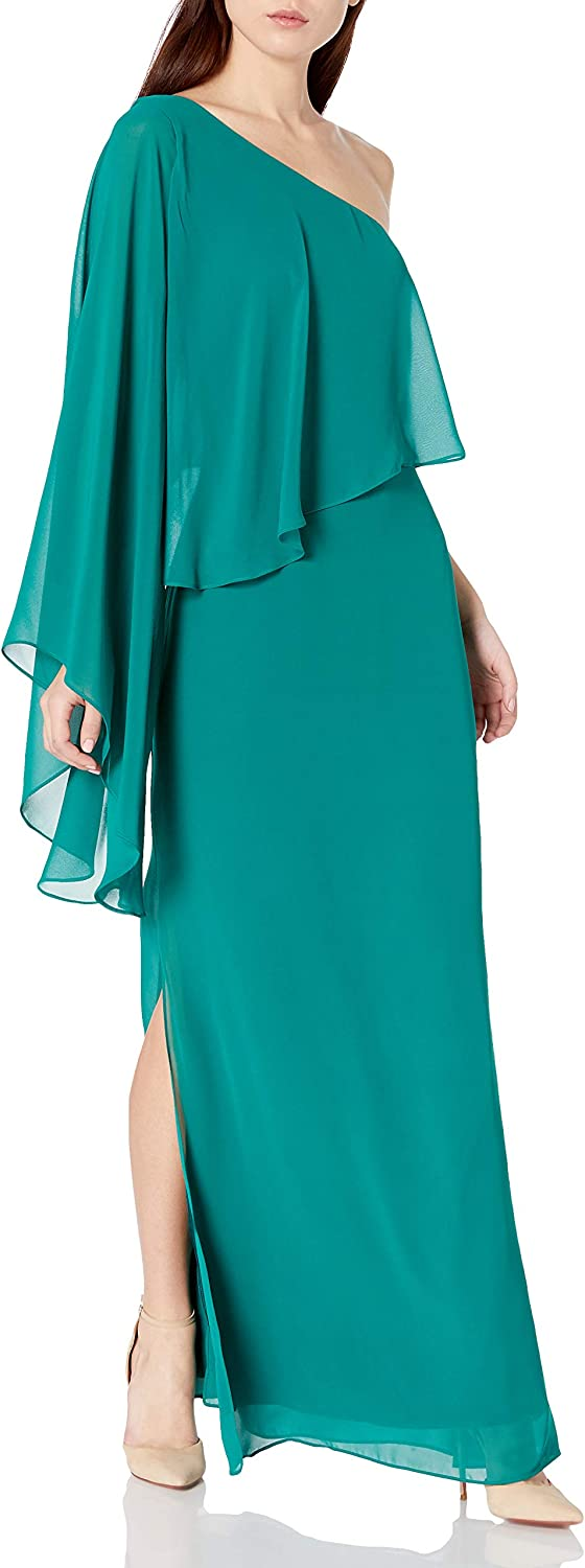 Laundry by Shelli Segal Women's One Shoulder Popover Gown
