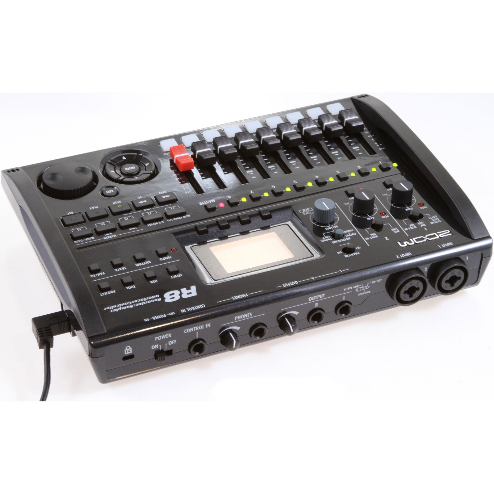Zoom R8 Multitrack SD Recorder Controller and Interface w/ MXL 550/551R & Cables
