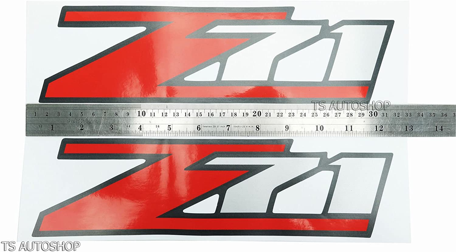 Z71 4x4 Sticker Red Silver Decal For Chevrolet Chevy Holden Colorado 2006-2011