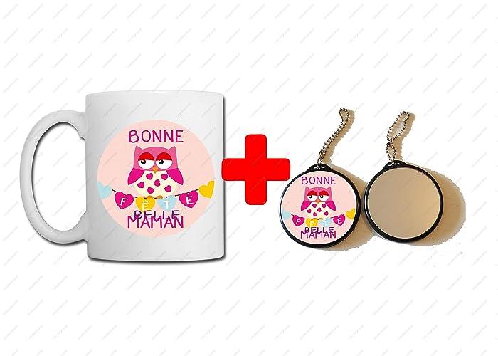 Mm Miroir Bonne Belle Maman 58 MugPorte Clés Fête rtdshQC