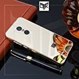 TheGiftKart Redmi Note 5 Back Case Cover: Luxurious Electroplated Mirror Back Cover with Metal Bumper (Golden) (LAUNCH OFFER)