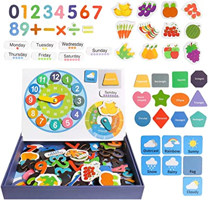 MagiDeal Double Side Counting Number Flash Cards Preschool Toddler Kids