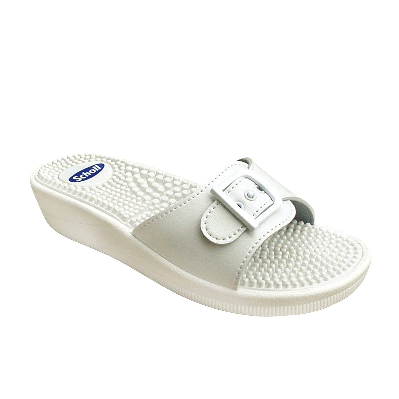 New Blanco Scholl Massage Sandalias Zapatos Y Mujer Complementos 534qAjRL