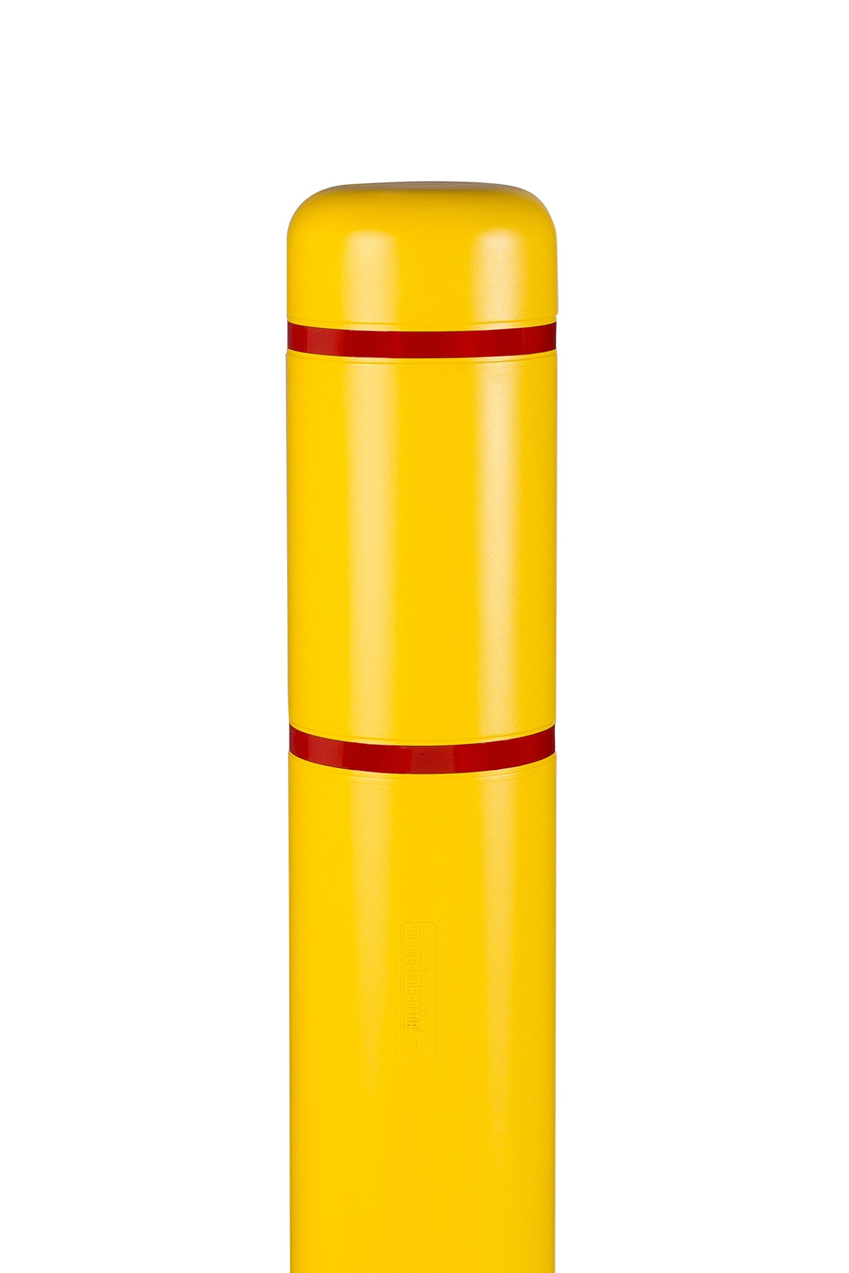 Innoplast 7'' x 52'' (7.1'' ID) Bollard Cover Yellow with Red Reflective