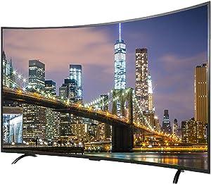 YILANJUN WiFi 32/42/50/55 Pulgadas Smart TV,HDMI,USB,HD LCD Televisor,Control por Voz,Proyección Inalámbrica,Pantalla Curva 4K + UHD,Pantalla HDR,Interfaces Ricas