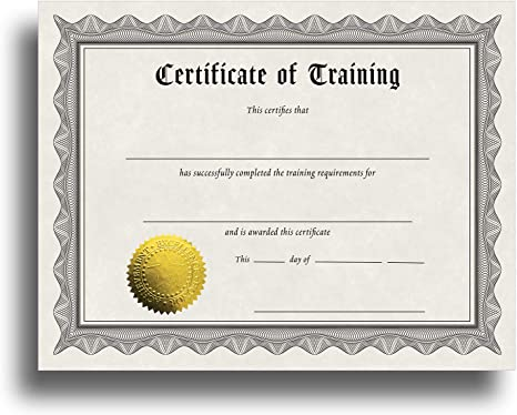 Certificate Of Training Certificate Paper With Embossed Gold Foil Seals 30 Pack Parchment Award Certificates For Students Teachers Employees