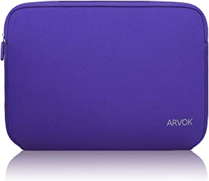 Arvok 13-14 Inch Laptop Sleeve Multi-Color & Size Choices Case/Water-Resistant Neoprene Notebook Computer Pocket Tablet Carrying Bag Cover, Purple