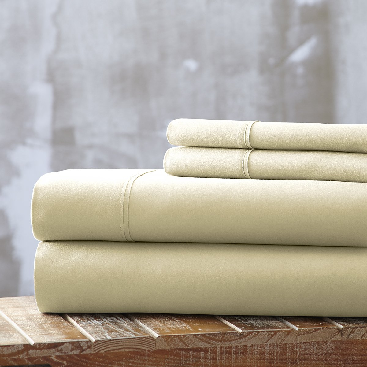 Spirit Linen, Inc Hotel 5th Ave EE-QUEEN-IVORY-4PC Queen Ivory Everyday Essentials 1800 Series 4Pc Sheet Set by Spirit Linen, Inc Hotel 5th Ave